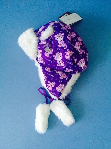 фиолетовая шапка для девочки
