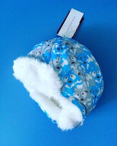 зимняя шапка для мальчика синяя