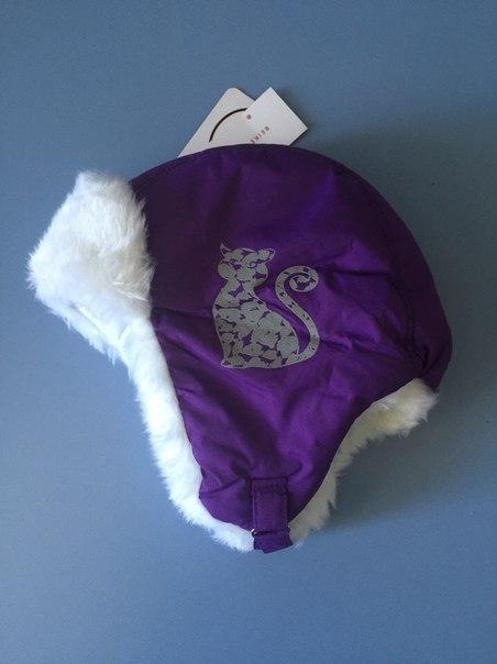 фиолетовая зимняя шапка для девочки