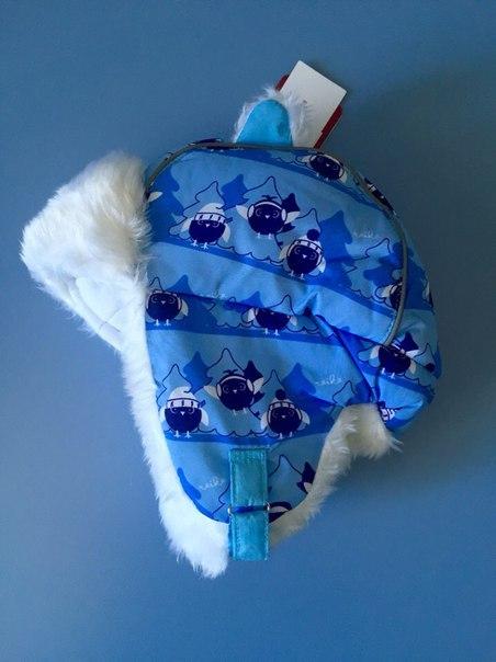 синяя голубая шапка для мальчика