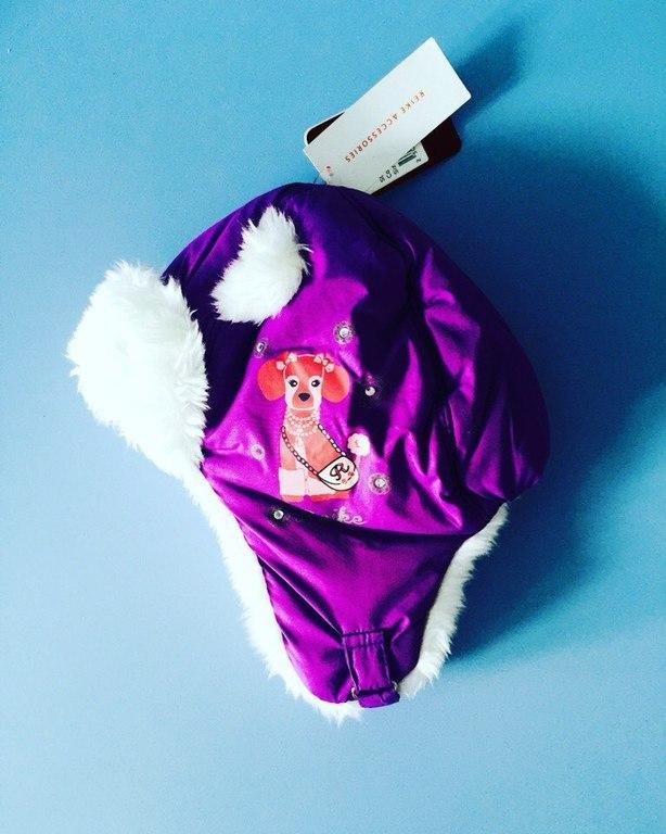 яркая шапка для девочки на 6 лет
