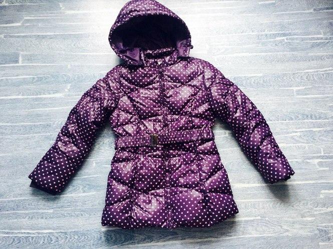 зимнее пальто для девочки на рост 146
