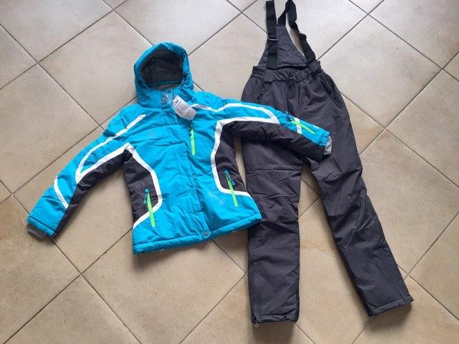 Женский зимний лыжный костюм бирюзовый