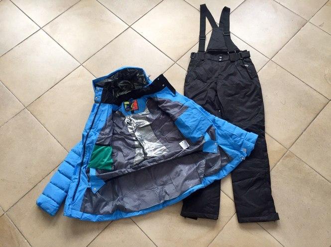 Мембранная зимняя куртка с юбкой от снега